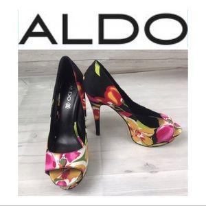 Aldo Multi-Color High Heel Shoes Sz 40/10